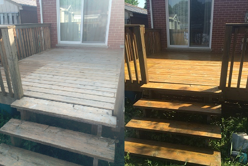 Deck Staining London Ontario